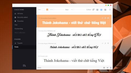 FontBase – Phần mềm quản lý font